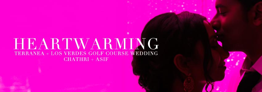 Bright Pink Orange County Beach Wedding
