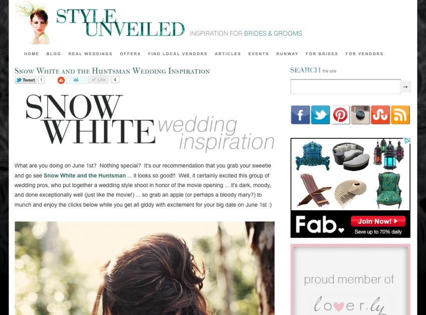 Fairy Tale Snow White Wedding