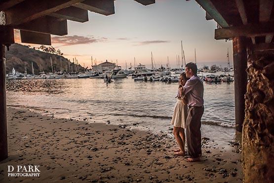 Catalina Island Pier Beach Engagement Photographer