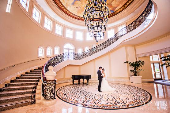 St Regis Monarch Beach Wedding Staircase Photographer