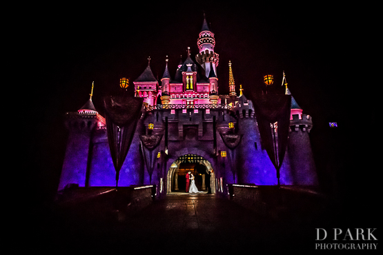 Disneyland Castle Wedding Photographer