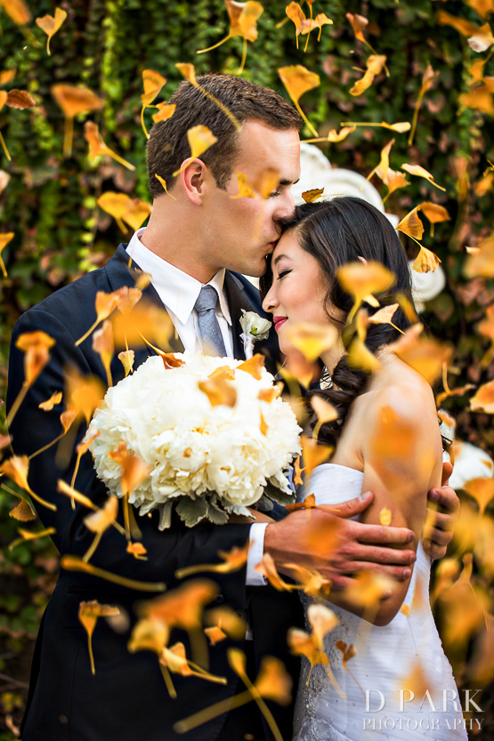 nixon library autumn fall wedding yellow