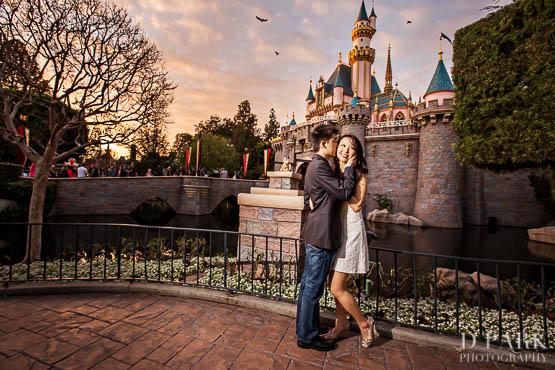 Disneyland Castle Engagement