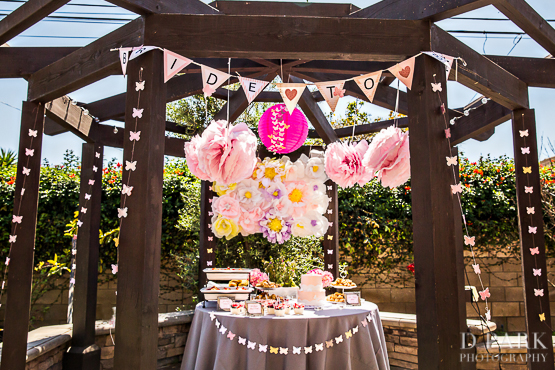 butterfly spring bridal shower pink champagne grey blush