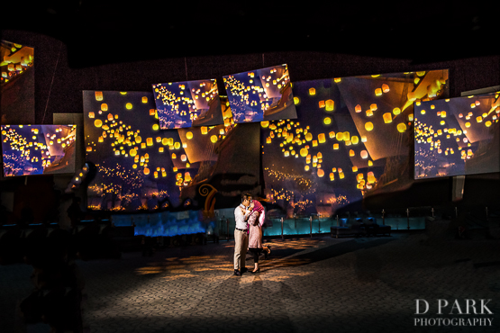 disneyland engagement tangled lanterns
