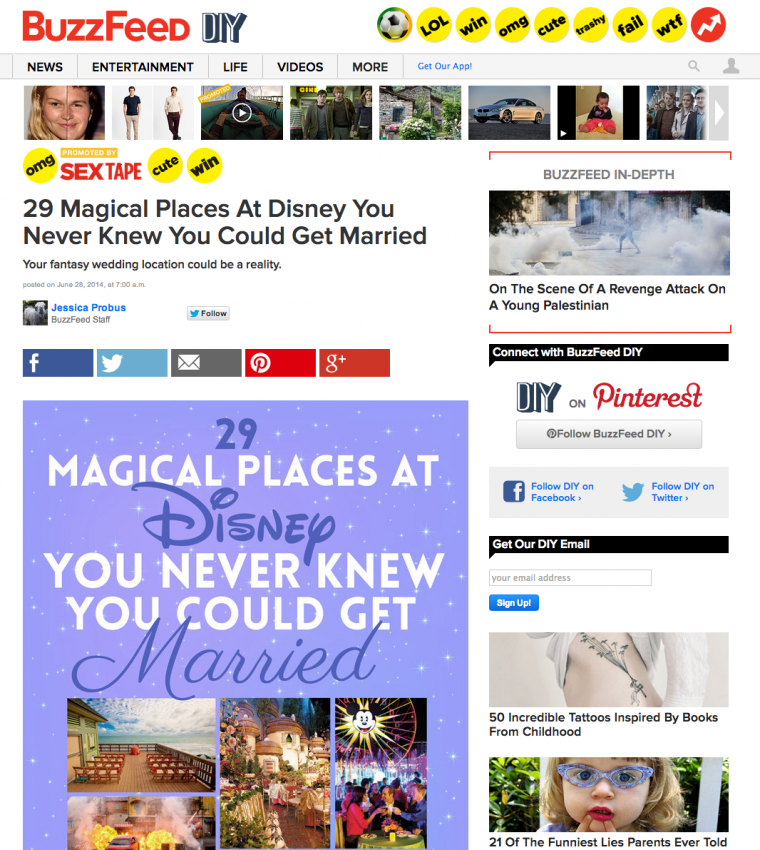where to get married at disney